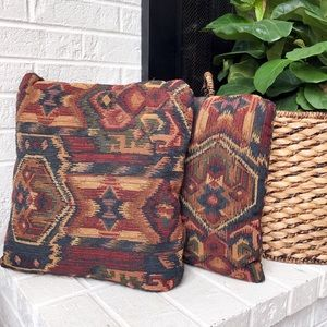 Southwestern Style Accent Pillows (2)